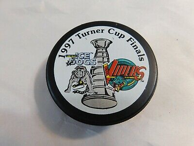 Ihl Detroit Vipers Color Logo Trench Reverse Official Hockey Puck Collect Pucks Pretty And Colorful Hockey-other