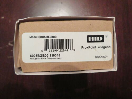 """HID 6005BGB00 Proximity ProxPoint Plus Reader, Wiegand Interface, 18"""" Wire Pigta"""