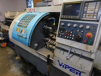 1999 Viper Vt-12 Cnc Lathe With Bar Feeder And Chip Conveyor