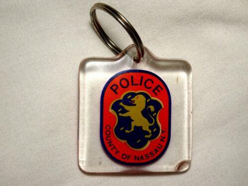 Vintage Nassau County New York Lucite Police Key Ring Keychain