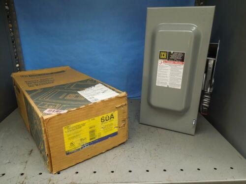 Square D H362 Heavy Duty Fusible Safety Switch 60a 3p 3w 600v Nema 1