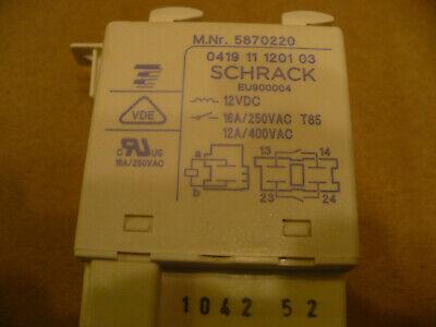 06002930 Schrack 0419 11 0101 02 Original Miele Heizung Relais Heizrelais T.-Nr