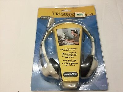 Vintage Stereo Headset With Microphone  Inter Act. #64570A