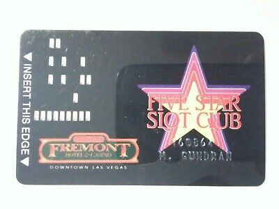 FREMONT HOTEL CASINO LAS VEGAS, NEVADA HARD TO FIND VINTAGE LOGO SLOT CARD!