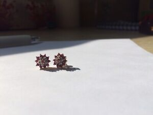 Gold diamond ruby necklace, earrings and ring set