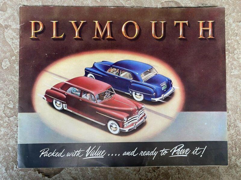 1950 Plymouth Original Sales Brochure
