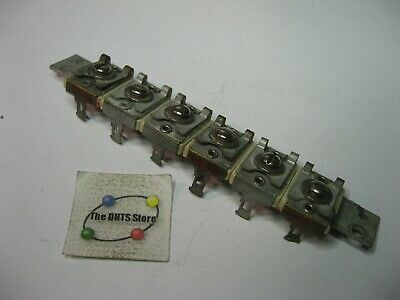 Variable Trimmer Capacitor Bank 6 Element 10-40pf - Used Qty 1