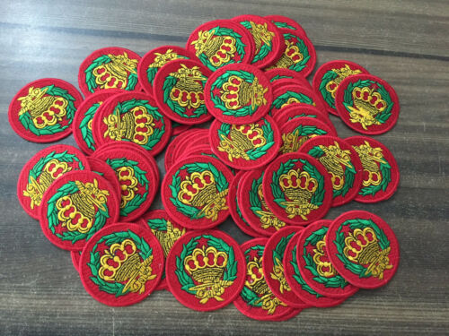 5 Piece Red Amaranth Patches, Square & Compass Patches, Master Mason Patches