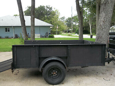 5 X 8 Wooded High Side Landscape Utility Trailer