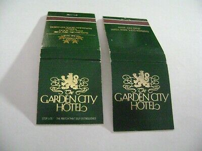 "Lot of 2 Different Match Books, ""GARDEN CITY HOTEL"", Garden City, NY, complete."