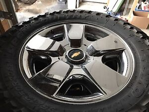 20 Chev wheels with Toyo Open Country M/T tires