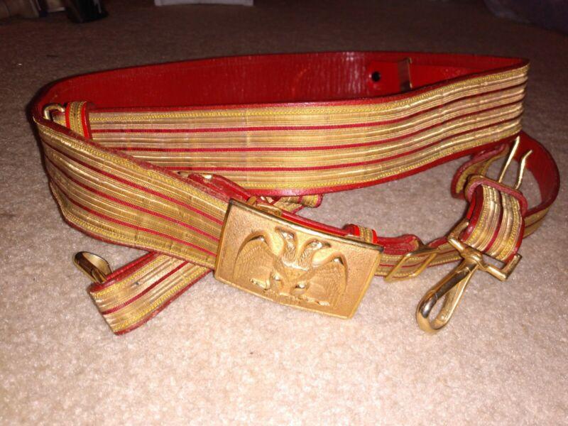 "Vintage Rare ""33rd Degree"" Masonic Sword Belt"