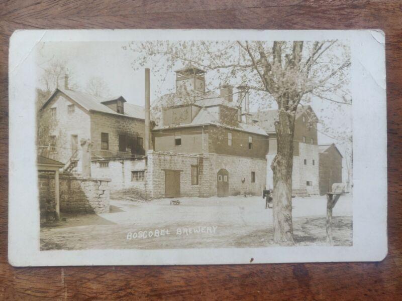 Pre Pro Boscobel Wisconsin Brewery Real Photo Postcard