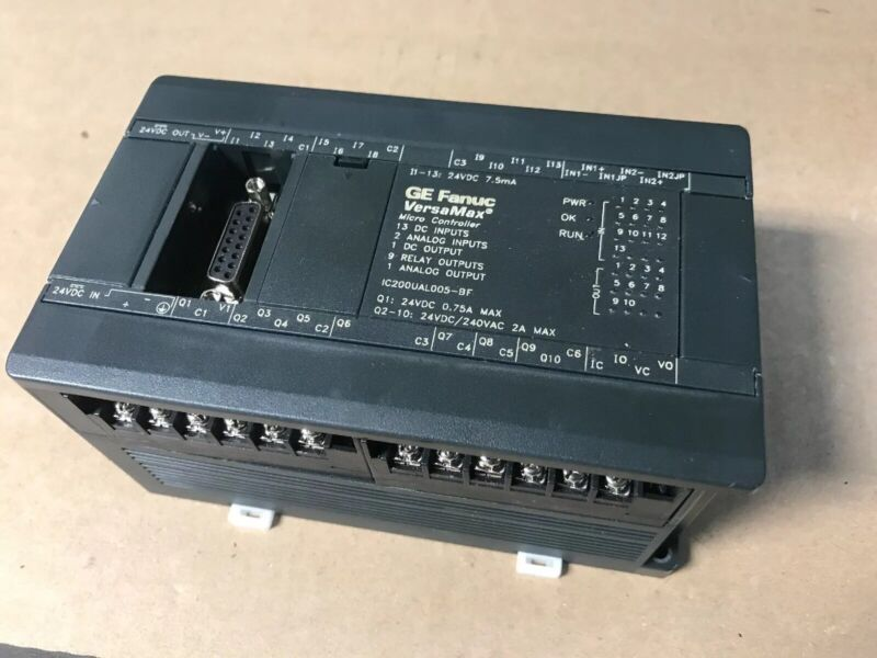 GE Fanuc IC200UAL005-BF VersaMax Micro Controller 24VDC CLEAN FAST SHIPPING
