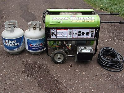 All-power America 6000w Generator Model Apg3560cn - Propane Powered 2 Gas Tanks
