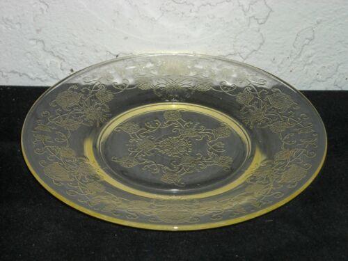 Florentine Poppy 2 Sherbet Plate  Yellow