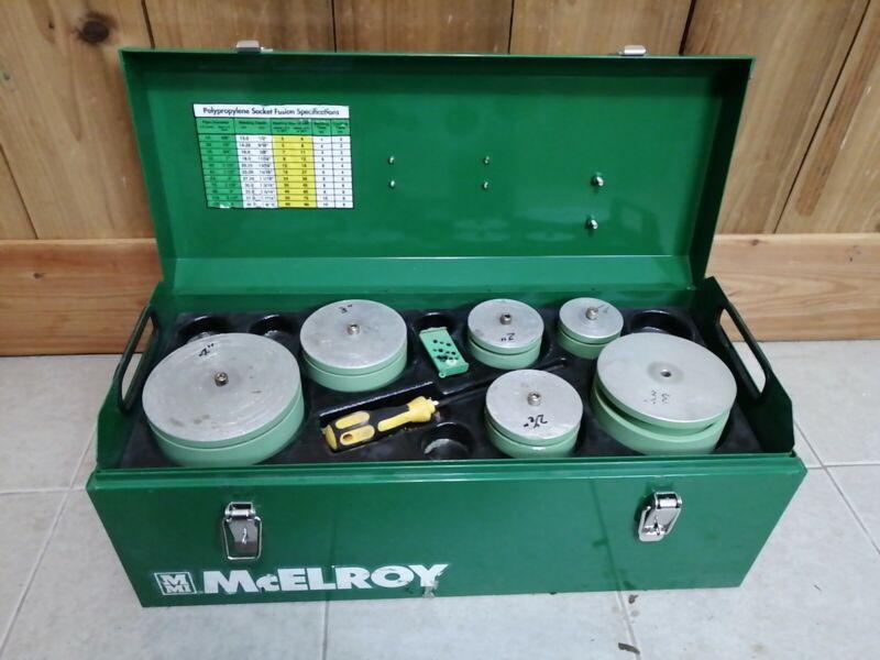 NICE! Mcelroy Socket Fusion Plastic Welder Aquatherm Kit 442901 & Sockets