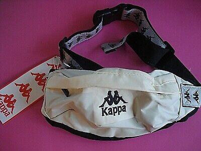 KAPPA WAIST BAG FANNY PACK TRAVEL SPORT BAG CREAM NEW