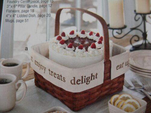 LONGABERGER 40th ANNIVERSARY CAKE LINER FOR 1-HANDLED BASKET FLAX - NEW