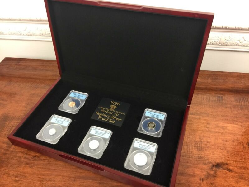 1996 Perfect 70 Registry Silver Proof Set American Coin Collection WoodBox Grade