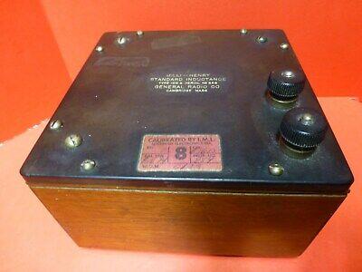 1 Mh Vintage General Radio Standard Inductance Type 106g Works Elegant Collector