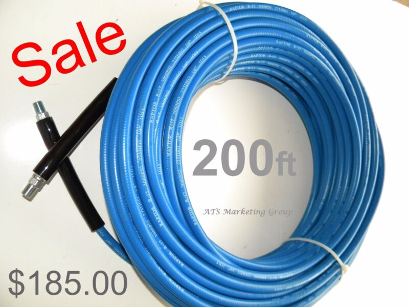 Carpet Cleaning 200ft Truck-Mount 3000 PSI High Pressure Hose