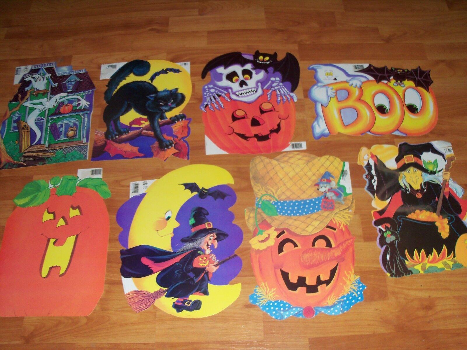 Halloween Diecuts Cutouts Eureka Vintage Decorations U Pick NOT a LOT