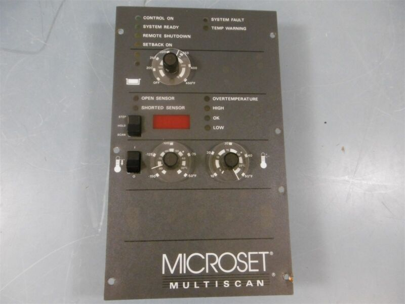 Used Microset Multiscan 420651 102168F Temperature Control Microset Multiscan