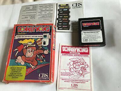 Donkey Kong / Boxed With Instructions / Atari 2600 Tested & Working 7800 PAL /#2