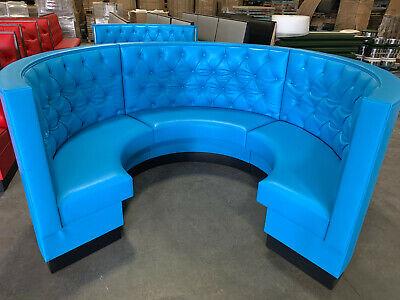 Restaurant Full Circle Booth -upholstered Diamond Tufted 36h 42h48h