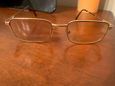 AUTHENTIC YVES SAINT LAURENT GOLD OPTICAL FRAME bifocals glass glasses (Ysl Reading Glasses)