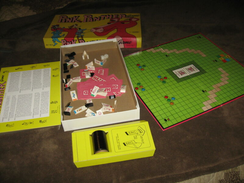 Fabulous Vintage 1977 Pink Panther Board Game - Must See This One!!!!