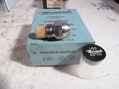 Monarch Oil Burner Nozzle 1.00 X 60 Cc Constant Flow Rate New Nos Fuel Furnace