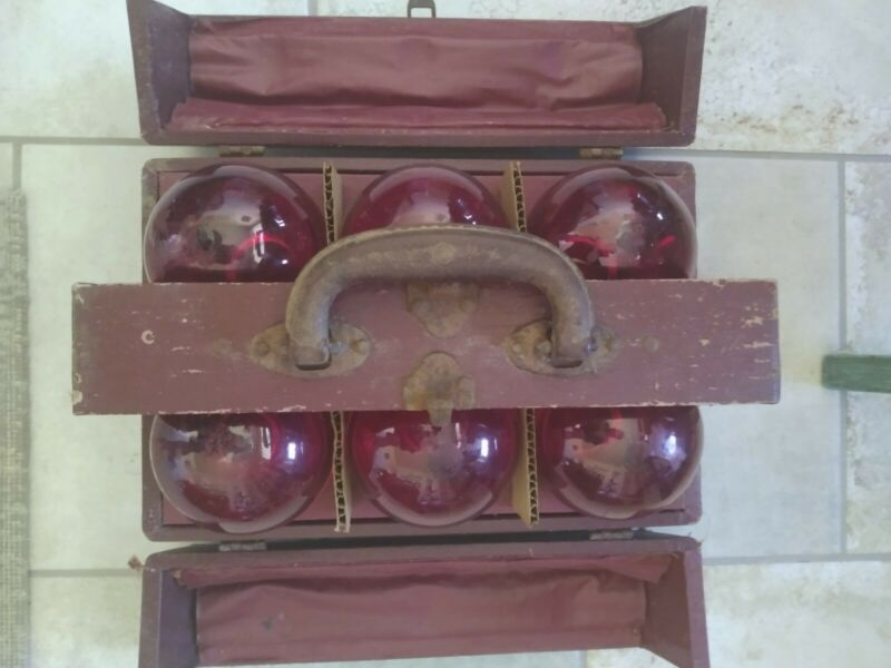 Antique Glass Fire Extinguisher Six Pack