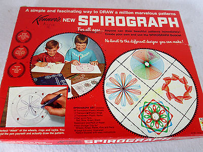 Vintage 1967 Kenner's Spirograph drawing set no. 401