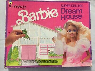 Vintage Colorforms Super Deluxe Batbie Dream House Almost Complete