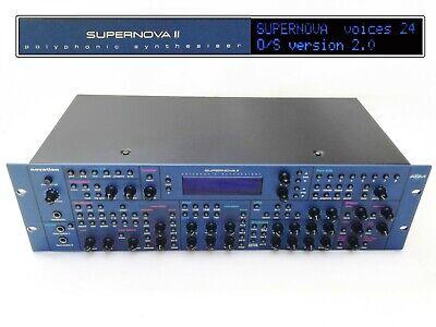 Vintage Synthesizer NOVATION SUPERNOVA II RACK 24 voic. OS 2 RETRO SYNTH VOCODER segunda mano  Madrid