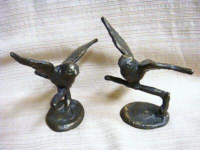 2 CAST IRON BIRDS
