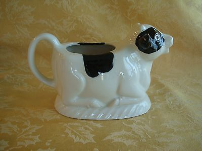 Vintage County Fare Himark White & Black Ceramic Cow Planter Made in Japan
