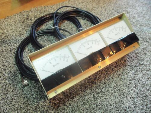 Bird 43 Thruline Watt Meter Triple Meter / RMS / New Gold