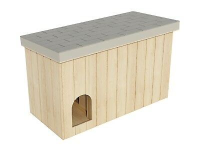 Dog House Plans DIY Large Outdoor Wooden Pet Shelter Kennel Doghouse All Weather