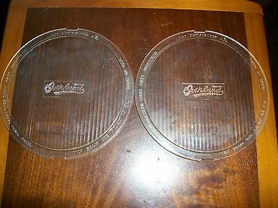 Vintage 1920's Pair Old OVERLAND Monogram HEAD Lamp Light LENS Tilt BEAM 6-3/4""