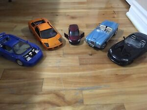 5 diecast cars for 75$