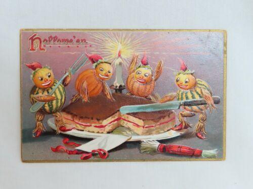 Vintage Raphael Tuck 150 Halloween Postcard Cutting Cake - 80765