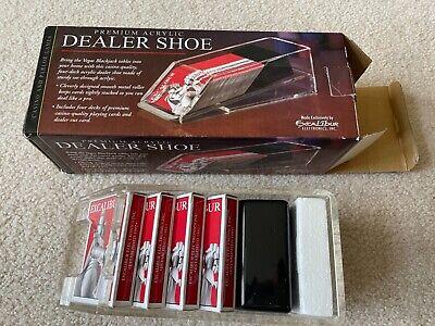Excalibur - 4 Deck - Casino Poker/Blackjack Card Dealer Shoe - Acrylic - New