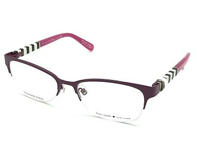 Kate Spade VALARY 0W95 Pink Half-Rimless Cat Eye Eyeglasses Frames 49-16 135