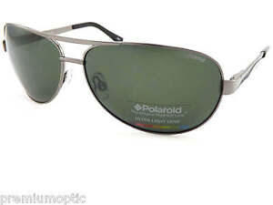 POLAROID aviator polarized Sunglasses Dark Gunmetal/ Green Lens P4315B A3X RC