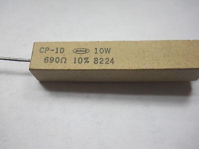690 Ohm 10 Watt 10 Cement Power Resistor Nosnew Old Stockqty 10 Ead3