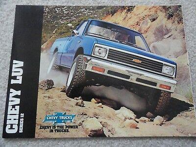 1982 Chevy LUV Truck Sales Brochure