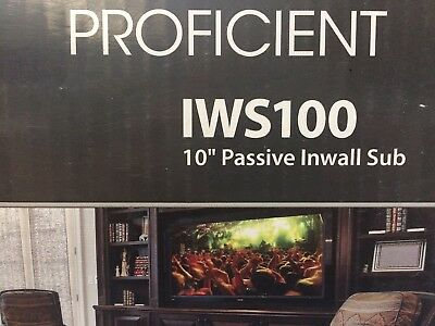 Proficient Iws100 In Wall Sub  I Have Sold 4 And This Is The Last One 100  Qc D